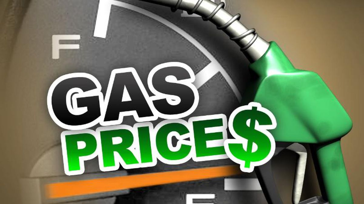 Gas prices graphic.