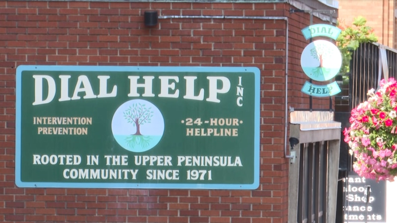 Dial Help is located in Houghton and helps the community better its mental health.