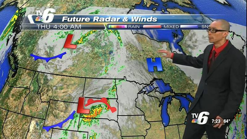 High pressure, pleasant weather persists for most of Thursday until a Northern Plains system...