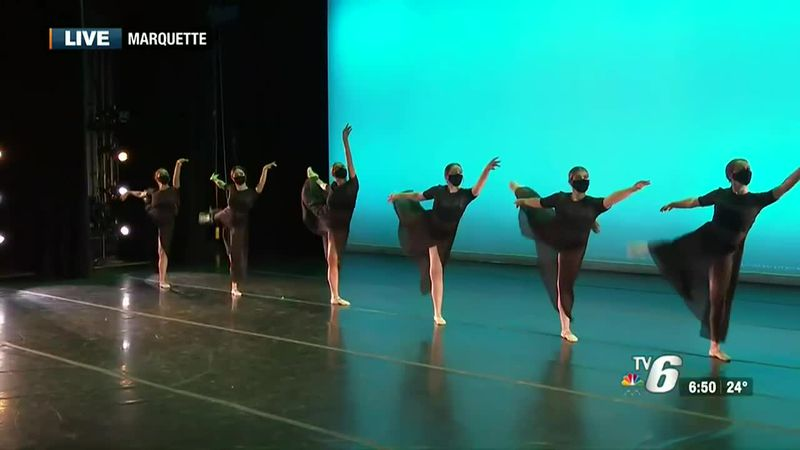 NMU student dancers prepare for their upcoming performances