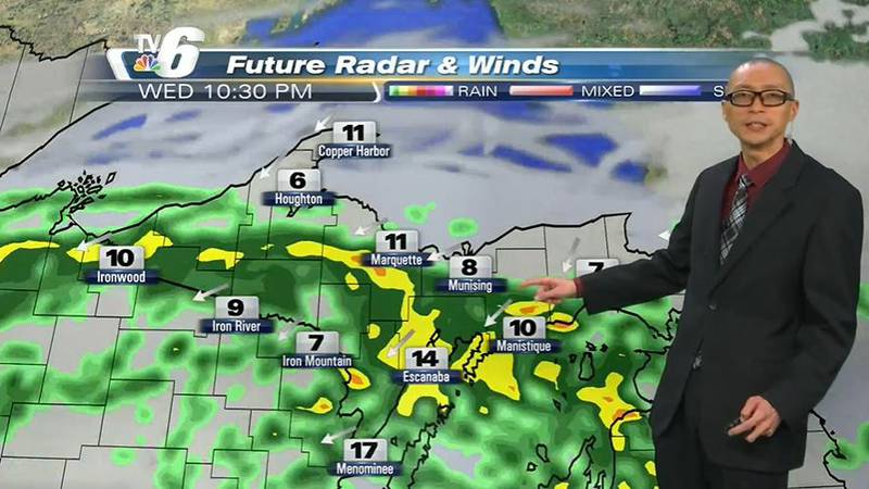 Scattered p.m. showers Thursday and increasing U.P.-wide in the evening -- with daytime highs...