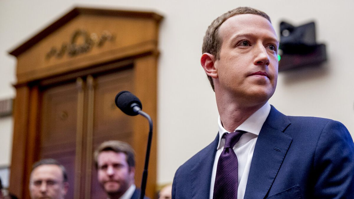 In this Wednesday, Oct. 23, 2019, file photo, Facebook CEO Mark Zuckerberg arrives for a House...