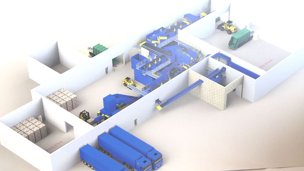 Marquette County single-stream recycling facility rendering.
