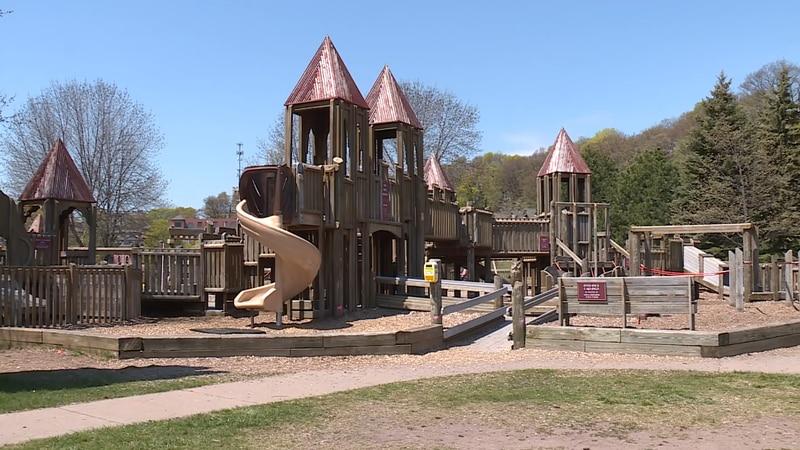 Kids Cove Playground in Marquette