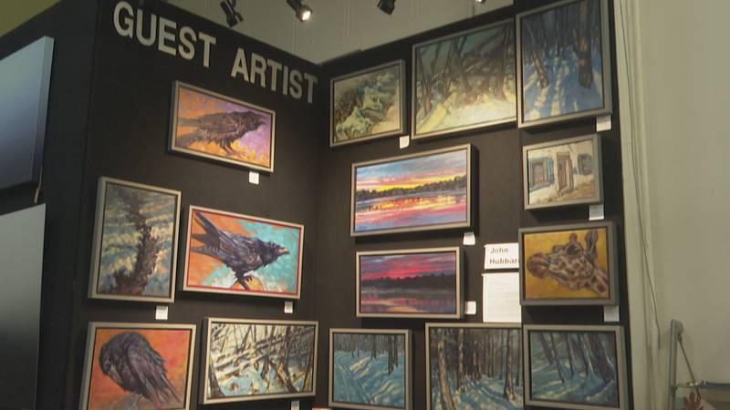 Guest artist exhibit at Zero Degrees Art Gallery.