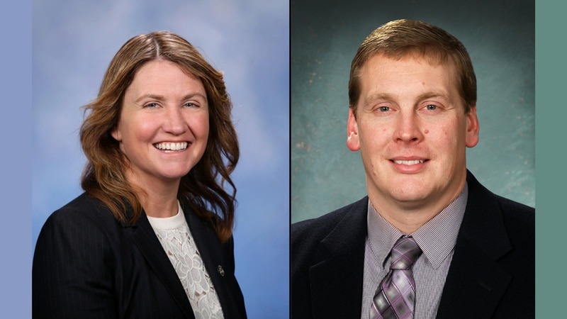 State Rep. Sara Cambensy (D-Marquette) and State Sen. Ed McBroom (R-Waucedah Township).