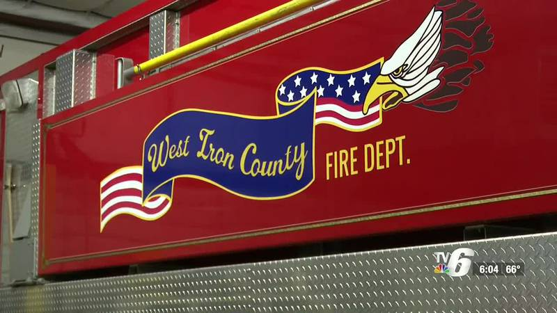 West Iron County Fire Department receives donation for compressed oxygen tank