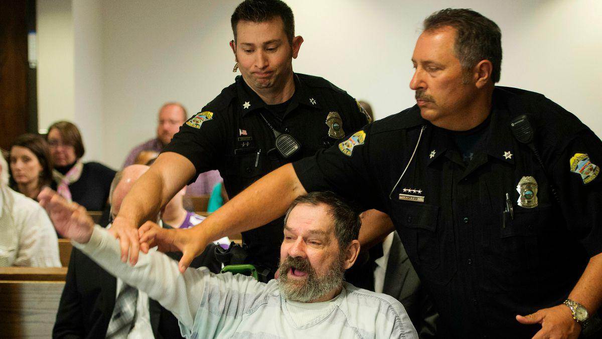 FILE - In this Nov. 10, 2015, file photo, Frazier Glenn Miller Jr., convicted of capital...