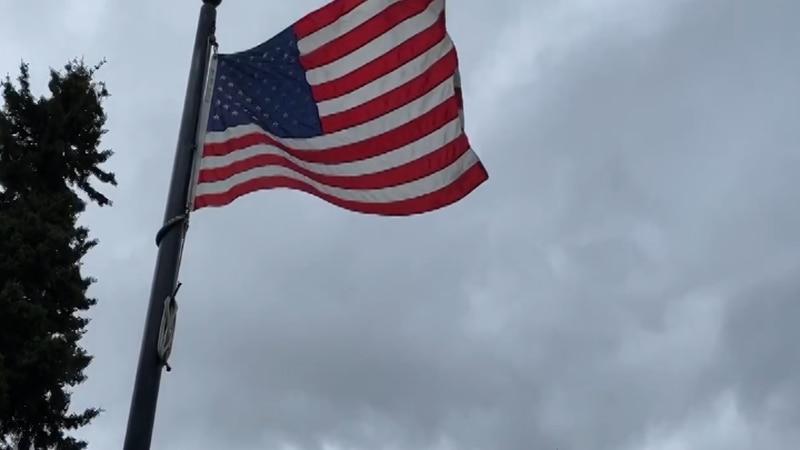 Flag in the Veteran's Memorial Park