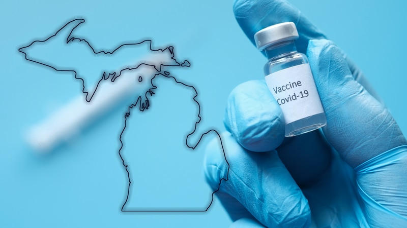 Michigan COVID-19 vaccine graphic.