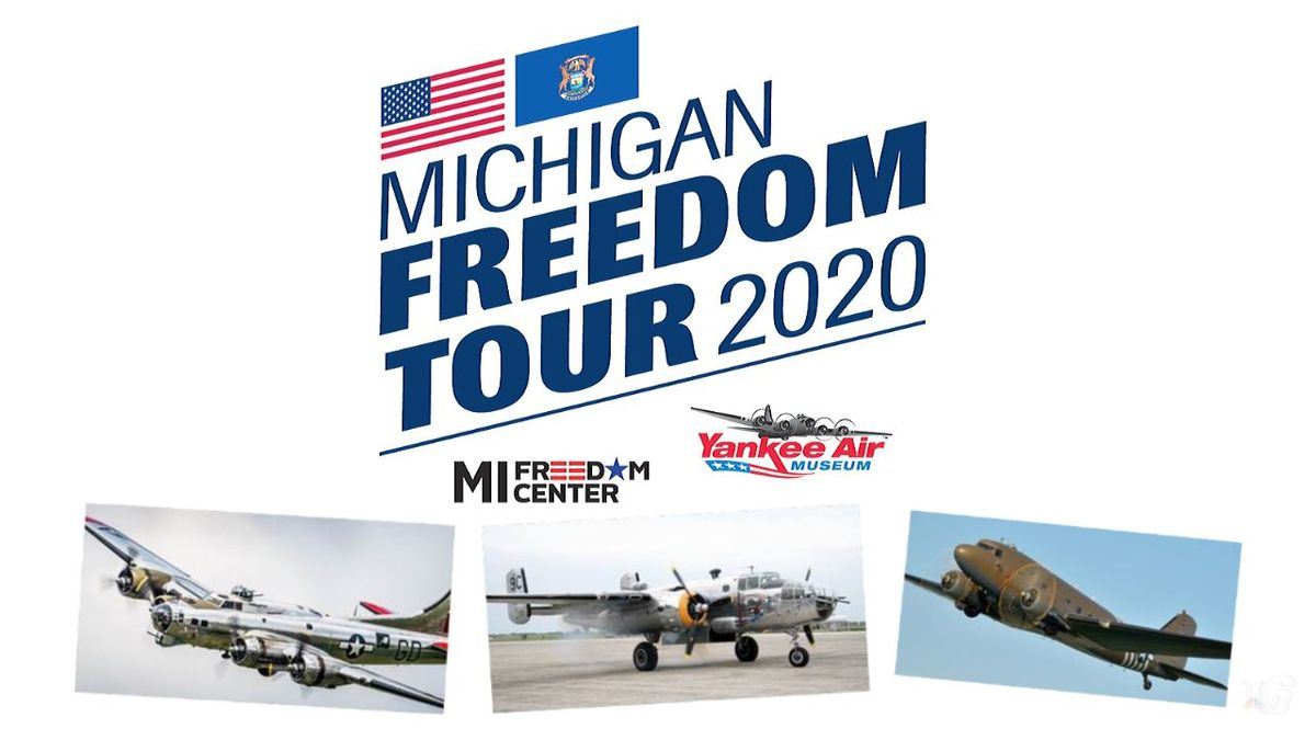 Yankee Air Museum and Michigan Freedom Center Launch 2020 MI Freedom Tour. (Michigan Freedom Tour Graphics)