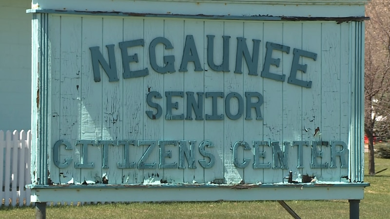 FILE. A file photo showing a sign at the Negaunee Senior Citizens Center.