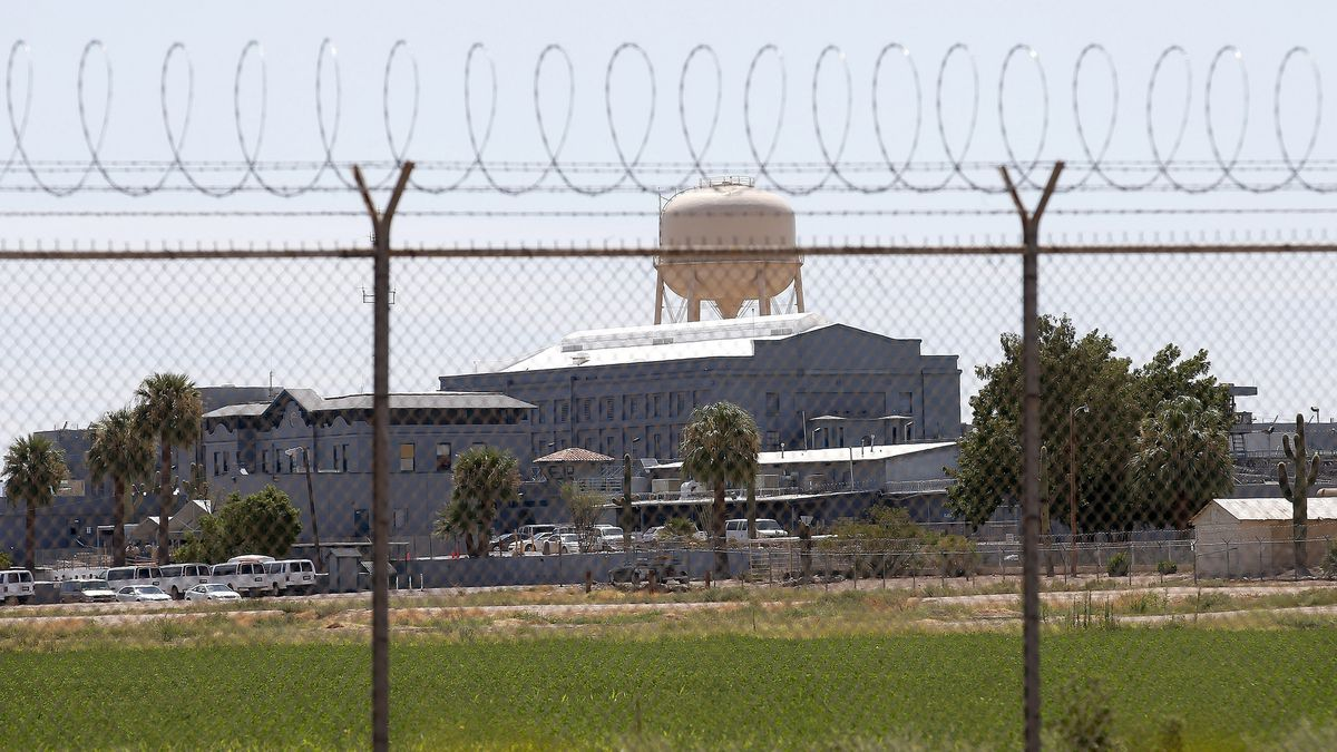 This this July 23, 2014, file photo, shows the state prison in Florence, Ariz., where...