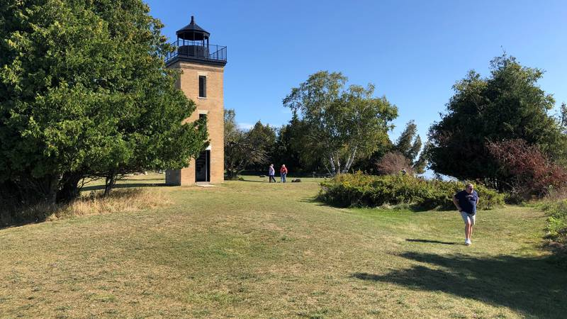 The lighthouse on Peninsula Point.