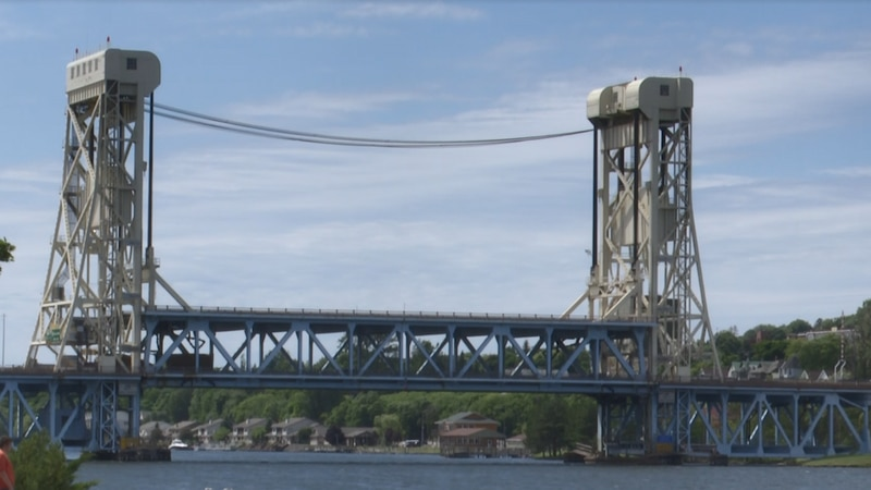 The Portage Lift Bridge connects the Keweenaw to Houghton.