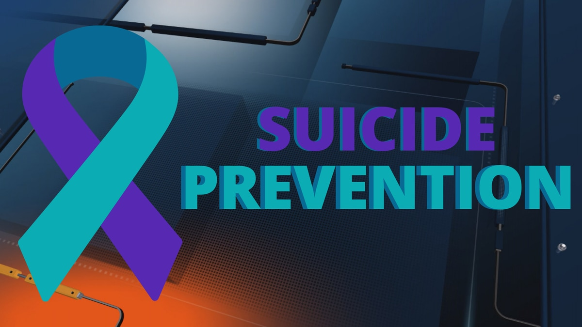 Suicide prevention and awareness ribbon.