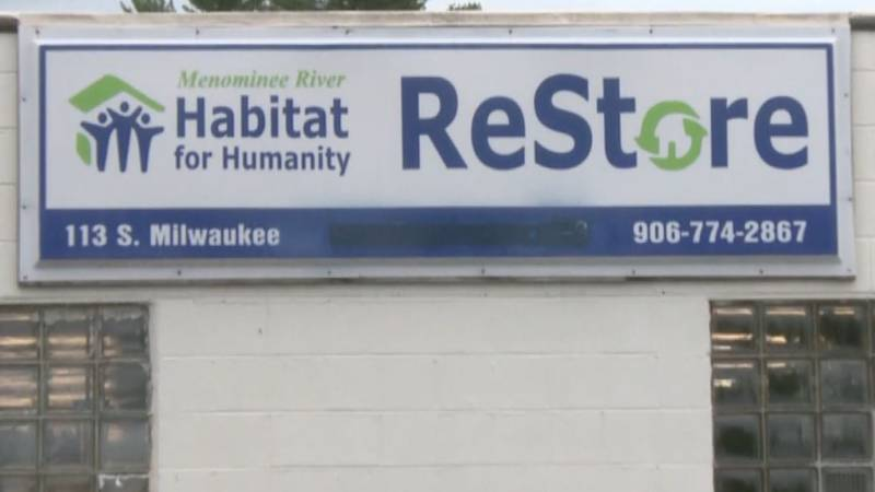 The outside of the Menominee River Habitat for Humanity Affiliate building.