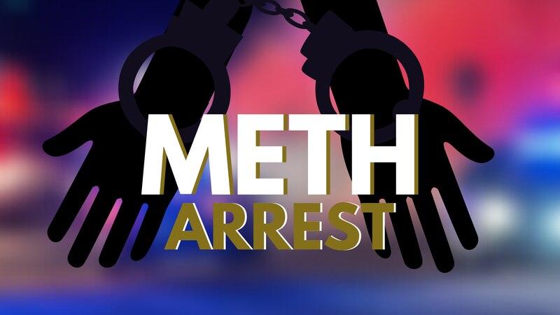 Meth arrest graphic.