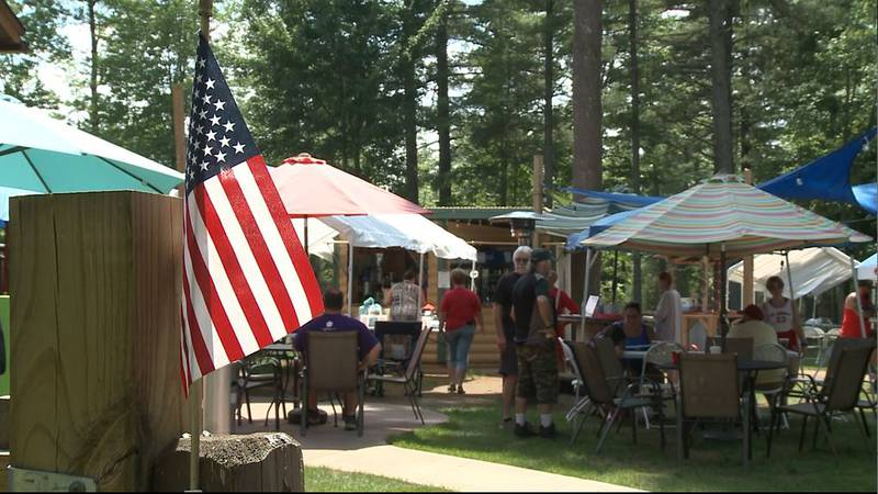 The Up North Lodge in Gwinn hosted their Bike Night fundraiser Sunday, with grant awards by the...
