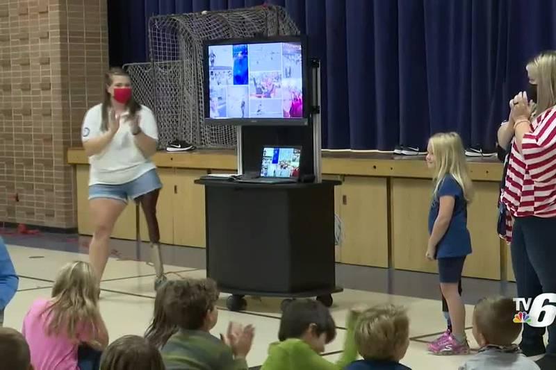 Kingsford native Kelly Allen at Stambaugh Elementary