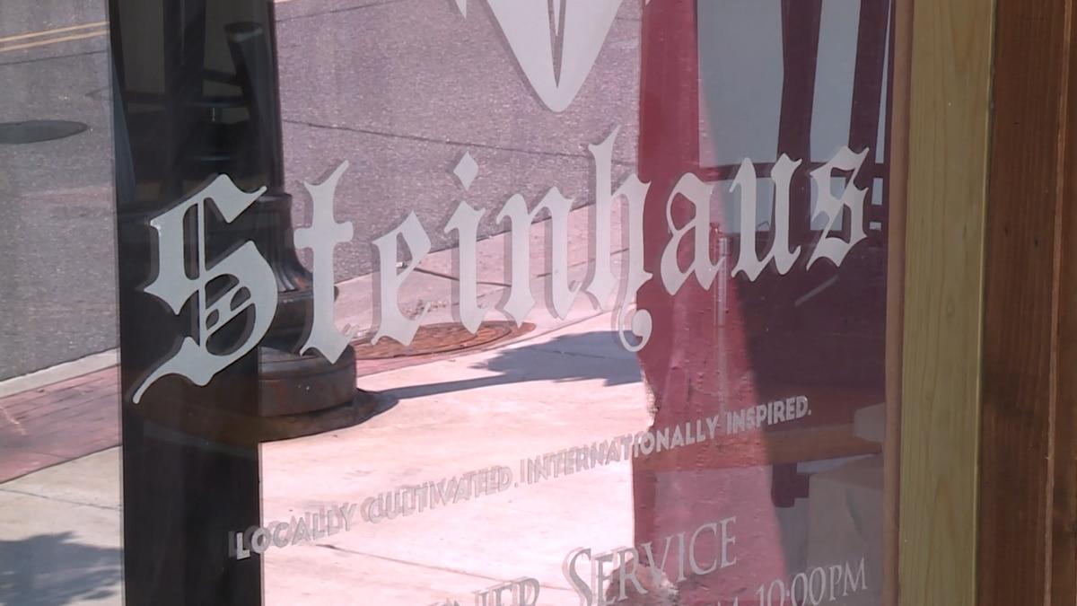 The Steinhaus logo on their door