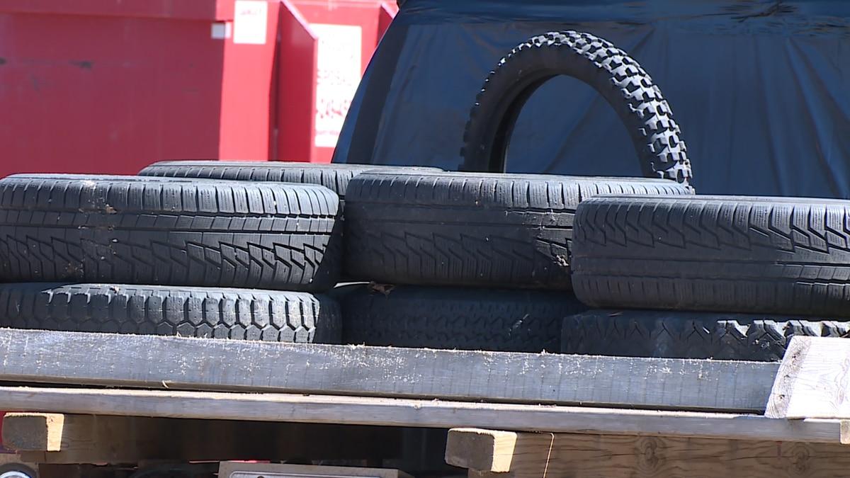 Scrap tire collection.