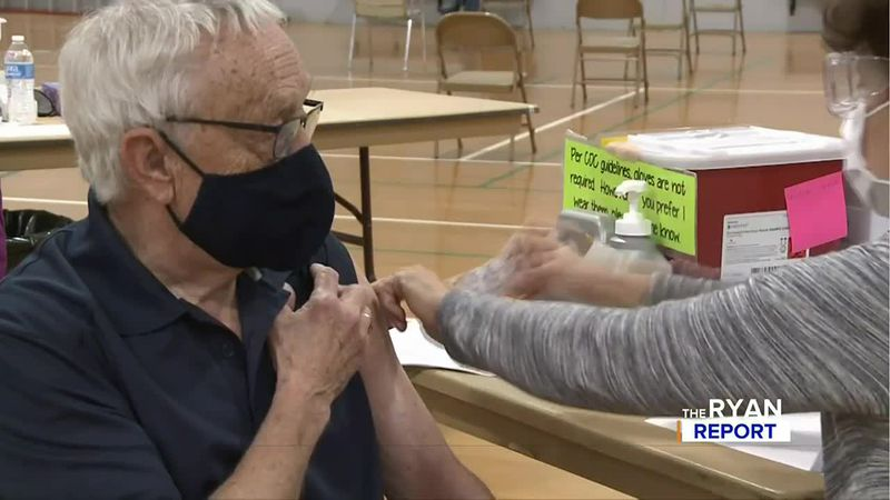 TV6's Don Ryan receiving his COVID-19 vaccine.