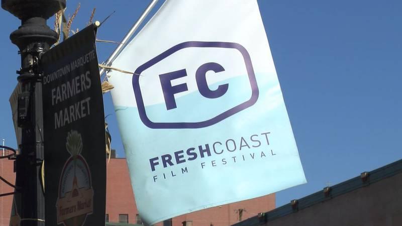 File photo of Fresh Coast Film Festival banner in Marquette.