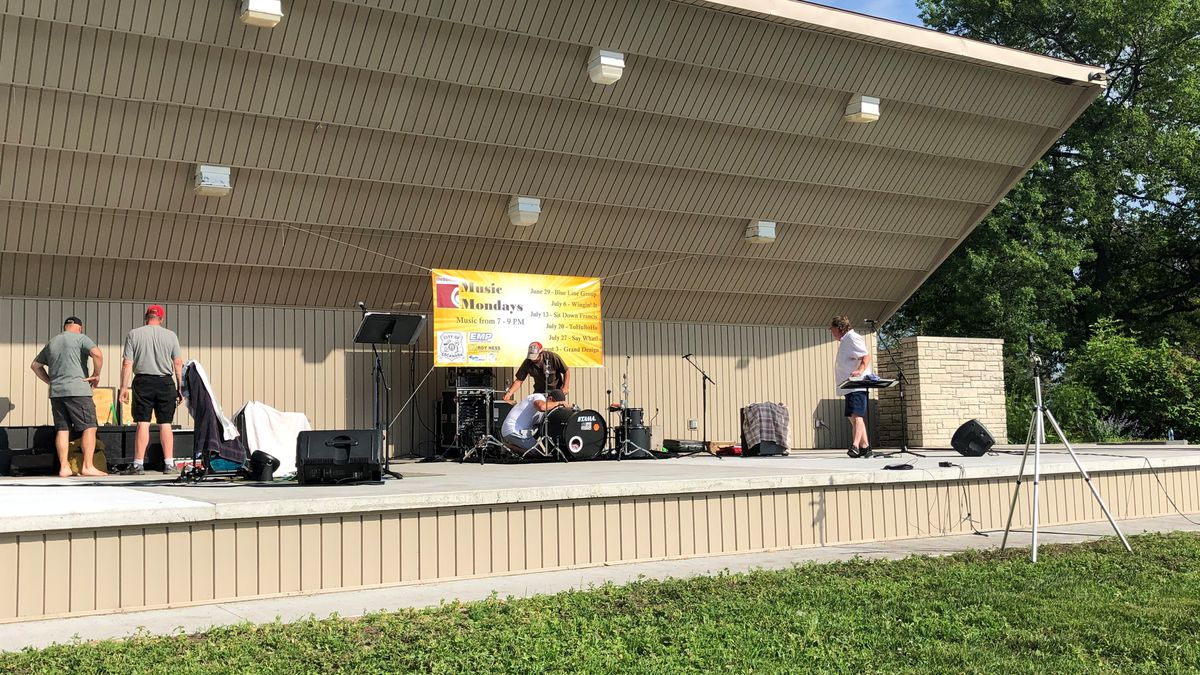 Setting up for the Summer Concert Series. (WLUC photo)