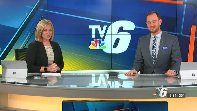 Celebrating TV6's Andrew Lacombe on his last day on the Morning News