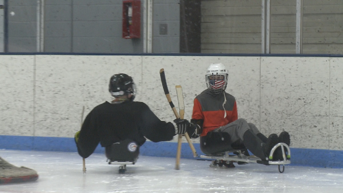 Sled hockey is back at Lakeview Arena and sign-up is open to all -- as long as you come masked...