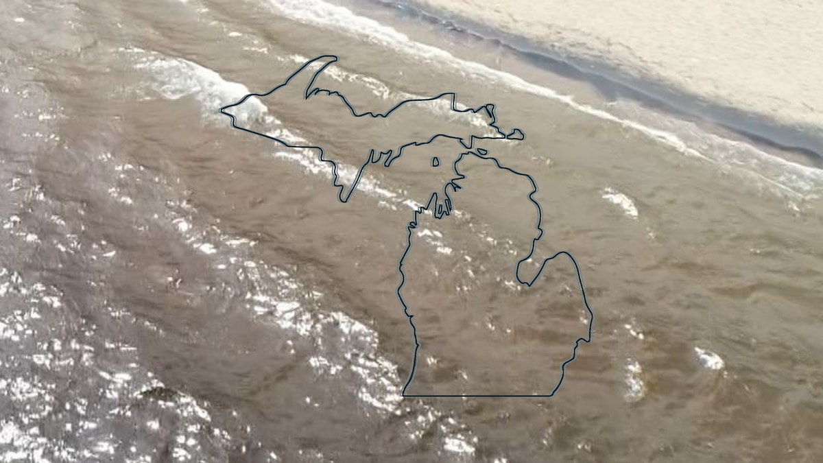 Lake Superior shoreline and a Michigan Map graphic.