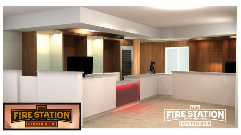 Rendering of Hannahville retail location for The Fire Station, courtesy of RG Design.
