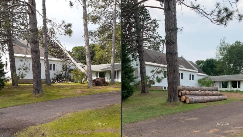 Storm damage clean-up at one Marenisco area home, July 27-July 28, 2021.