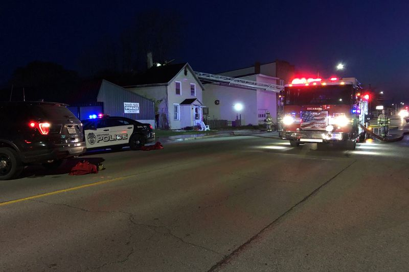 The fire was at a house on 10th street in Escanaba.