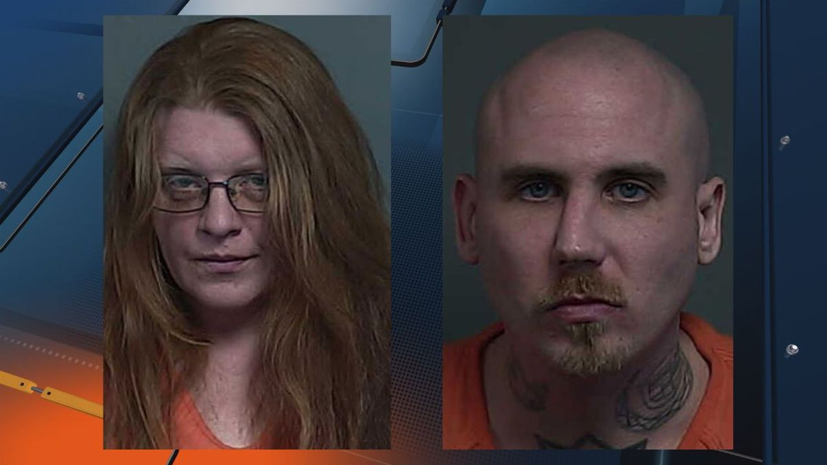 Mugshots for Sasha Joy Anderson, left, and Christopher William Darmofal (Houghton County Jail photos)