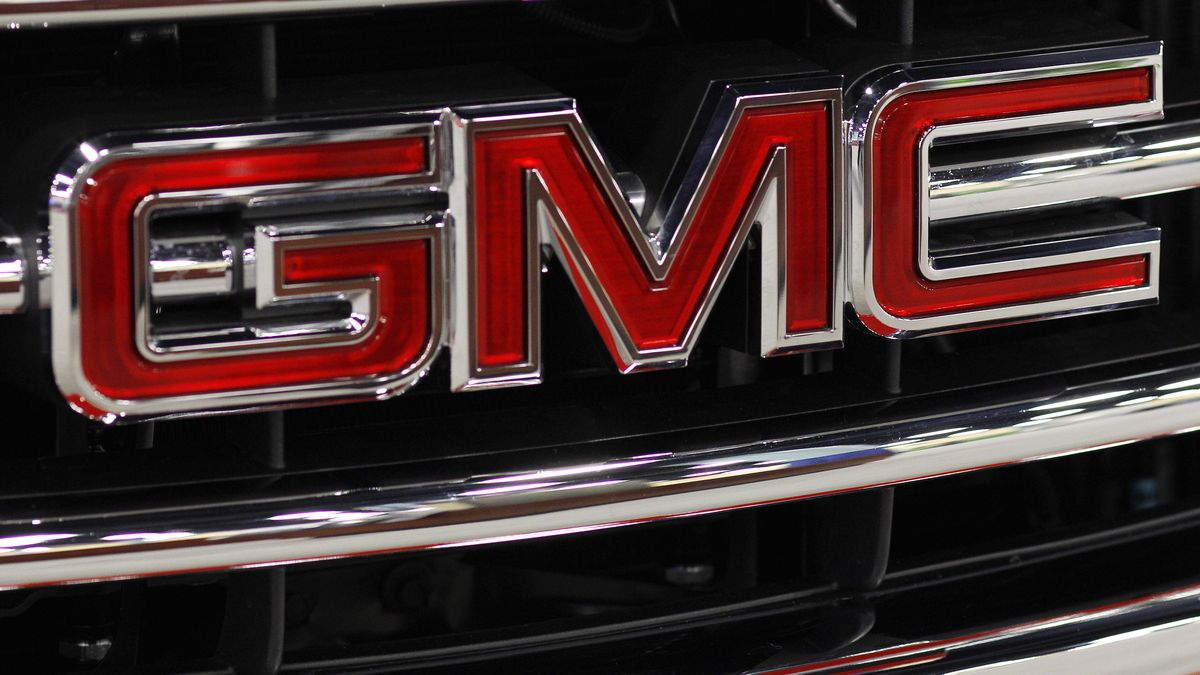 This Oct. 28, 2011 photo, shows the GMC nameplate at the 41st annual South Florida...