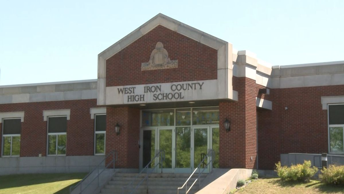 The West Iron County High School.