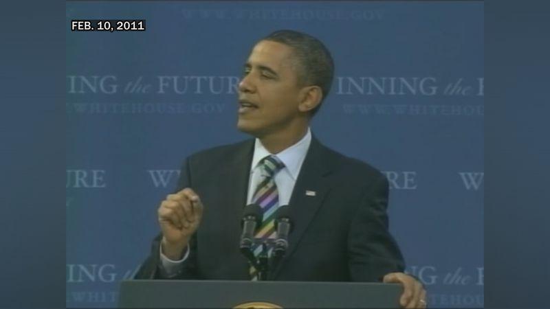 President Obama spoke at the university during his visit.