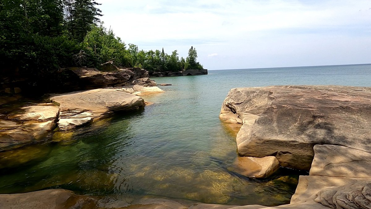 Paradise Point, a popular dispersed recreation location on the shores of Lake Superior west of...
