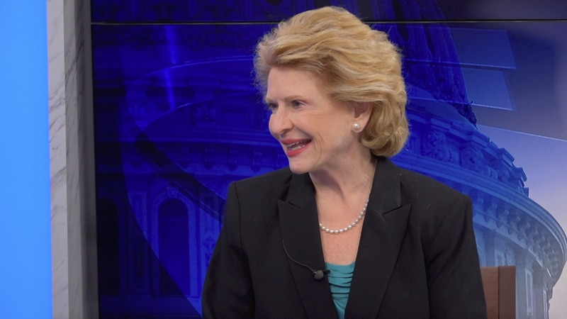 "Sen. Debbie Stabenow (D-Mich.) says she's ""very happy"" that her governor, Gretchen Whitmer..."
