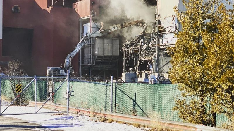 Demolition of the former Presque Isle Power Plant in Marquette.