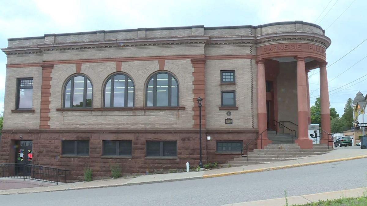 Ishpeming Carnegie Public Library (WLUC Photo)