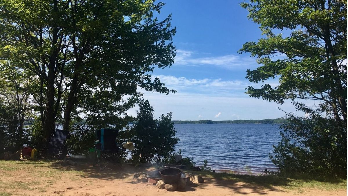A campsite at Bond Falls Campground in Ontonagon County. (WLUC File Photo)