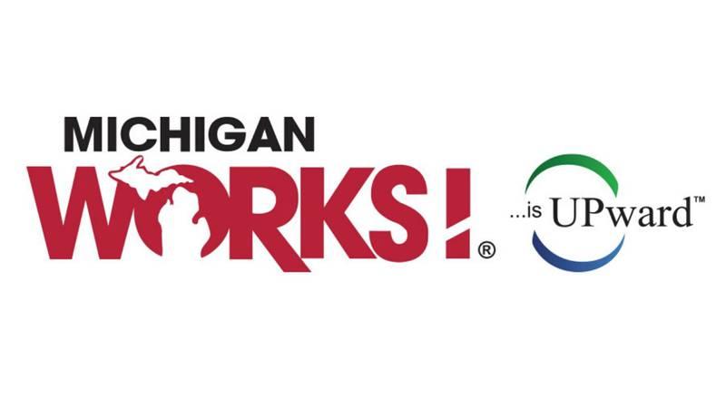 (Michigan Works! Upward Talent Agency logo)