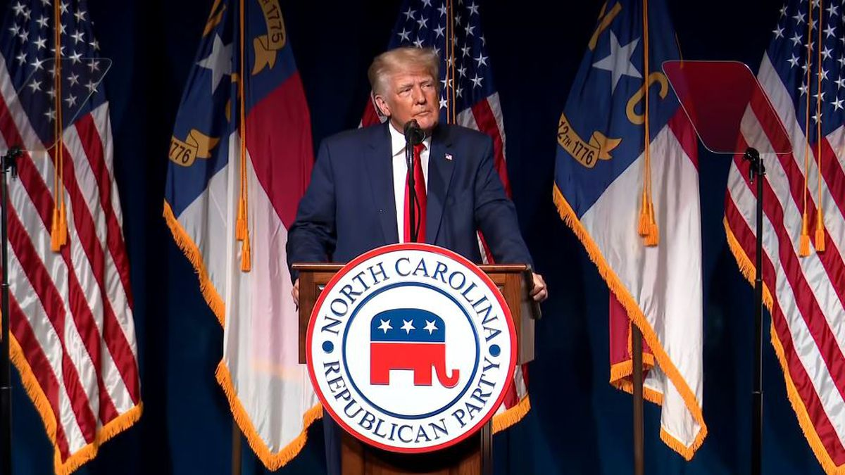 In a speech at the North Carolina Republican Convention, Donald Trump teased the prospect of...