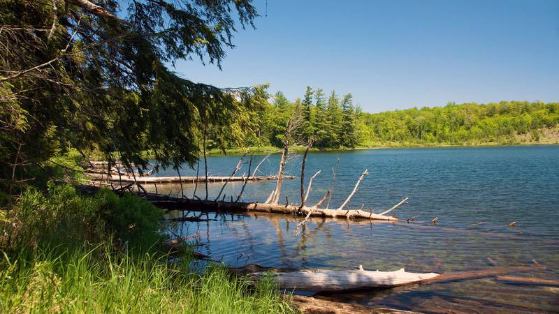 A sunny day on the Silver Lake Basin in Marquette County is shown. The Michigan Department of...