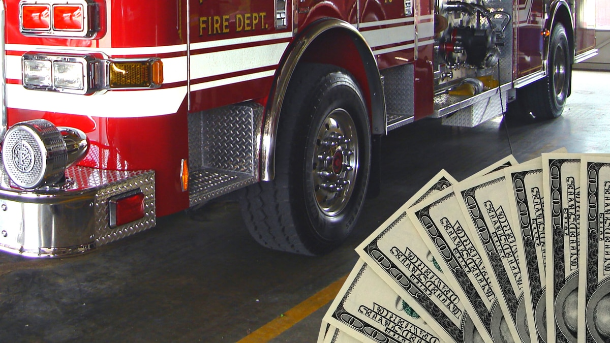Fire department funding graphic.