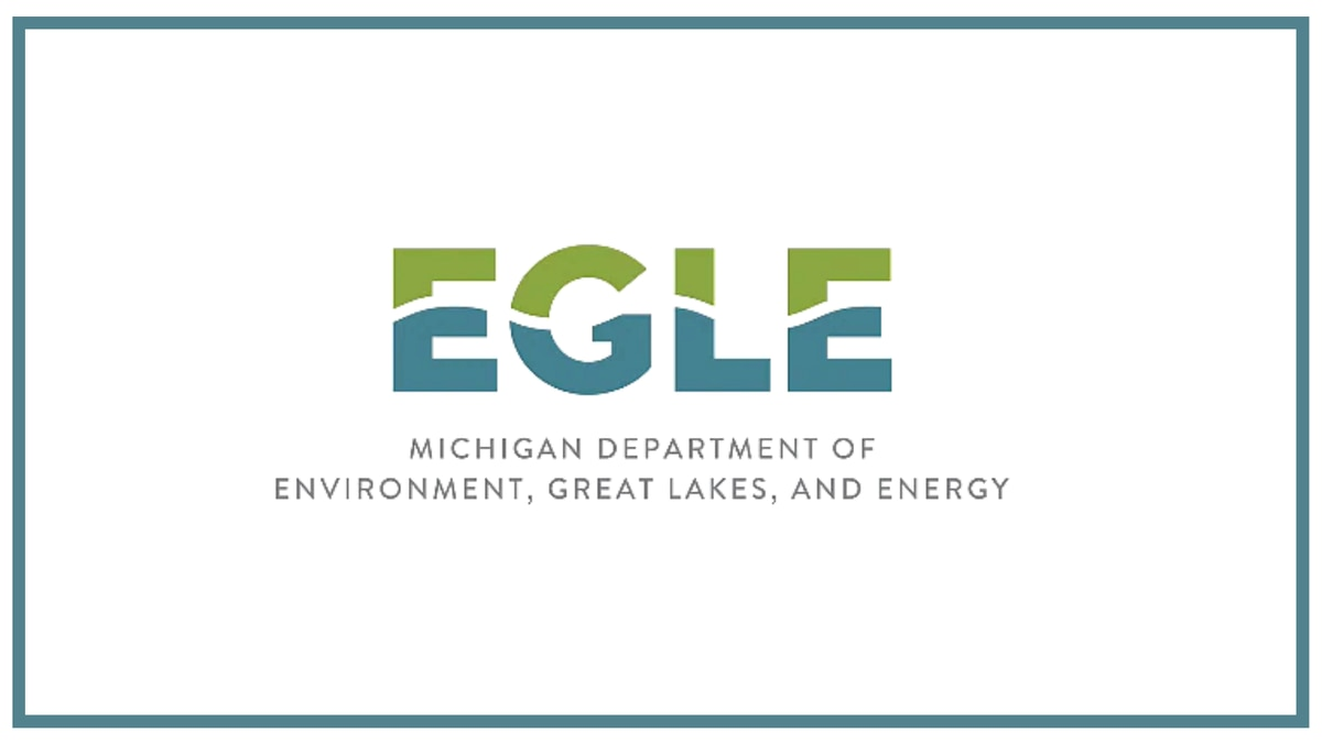 Michigan Department of Environment, Great Lakes, and Energy logo.
