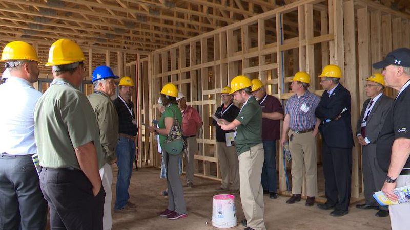 Donors tour Steve Mariucci Family Beacon House construction site